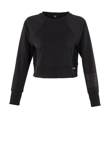 Lumberjack Marta Sleeve Detail Sweat Kadın Sweatshirt Siyah